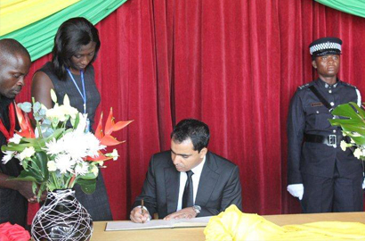 The General Manager of Tigo Ghana, Adil El Youssefi writes in the book of condolence