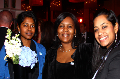 Derousha Coopen, Tlalane Tshabalala and Adhika Coopen of Wipro at the SAP Africa Partner Awards