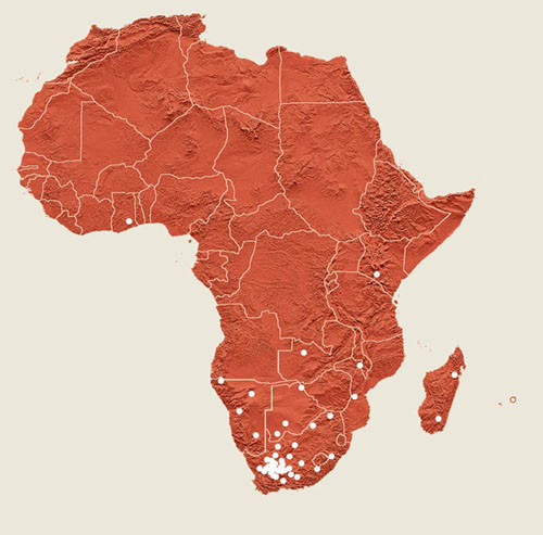 Proposed African SKA sites