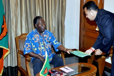 President Sata meets Indian investors