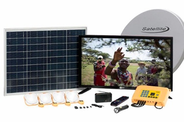 Azuri unveils custom 32-inch pay-as-you-go solar satellite TV system for off-grid Africa