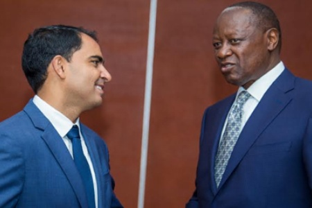 Ketraco chairman James Rege (Right) with Liquid Telecom Kenya CEO Adil Youssefi