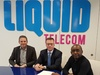 Nic Rudnick of Liquid Telecom, Troy Reynolds of Tata Communications and Strive Masiyiwa of Econet Wireless Global