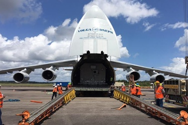 Intelsat S.A. Horizons 3e Arrives in French Guiana amid Preparations for September 7th Launch