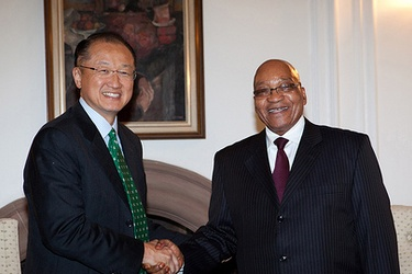 World Bank Group President Jim Yong Kim meets President Jacob Zuma