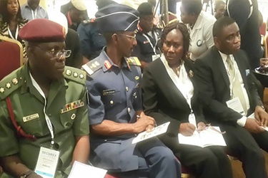 Col J A Adesina, Nigerian Air Force; Comdr Sani Zakari, NCC; Ms Funmilola Akiyode and Director, Public Affairs, NCC, Tony Ojobo