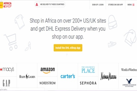 DHL brings over 200 global online stores to African consumers