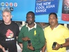 Nokia West Africa GM Chris Brown; MTN Nigeria Manager-VAS Marketing Ademuyiwa Ashiru; and Nokia West-Africa's Silvin Sinan