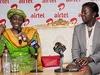 Her Excellency Nana Konadu Agyeman – Rawlings with Lucy Quist, MD of Airtel Ghana