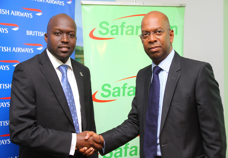 George Mawadri of British Airways and Bob Collymore of Safaricom