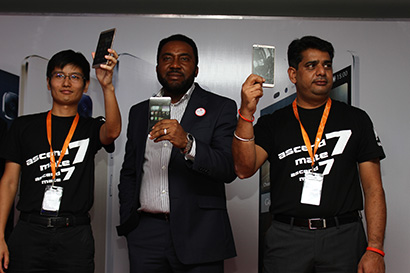Huawei Nigeria Country Manager Yang Fufu, Slot Nigeria MD Nnamdi Ezeigbo and Huawei Nigeria Sales Head Manoj Adhikari