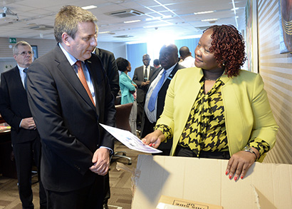 Mobile Compact Lab presented to Botswana