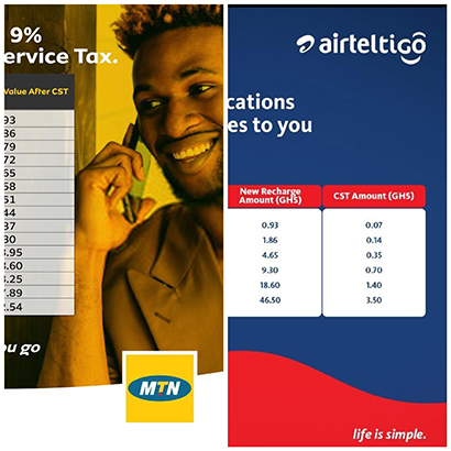MNOs now charging Ghanaian subscribers 9% CST