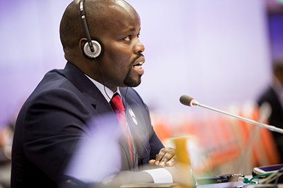 Rwanda's Minister of Youth and ICT addresses ITU Plenipotentiary Conference