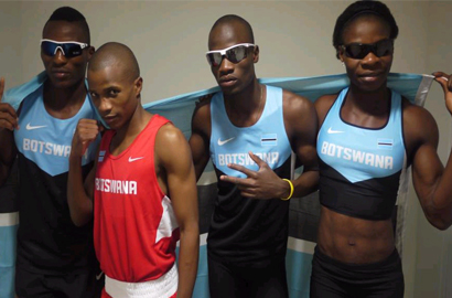 Team Botswana gets social network support