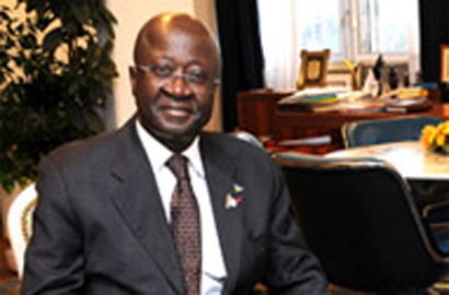 Cameroon's Minister of Posts and Telecommunications, Jean-Pierre Biyiti bi Essam