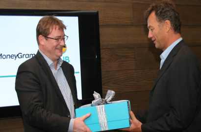 Guillaume Dewael of MoneyGram and FNB CEO Michael Jordaan