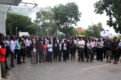 Tigo Ghana observes minute of silence