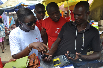 Airtel MD engages customers in the marketplace
