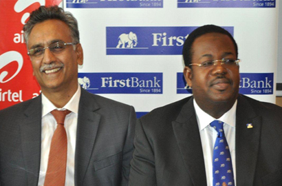 Rajan Swaroop, MD and CEO of Airtel Nigeria and Bisi Onasanya, Group MD, FirstBank Nigeria