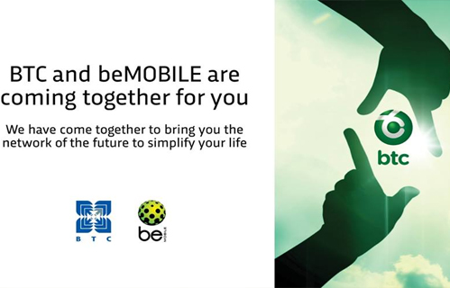 BTCL and beMobile merge