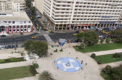 Free Wifi at Dakar's Independence Square