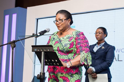 First Lady H.E. Rebecca Akuffo-Addo addressing the conference last year