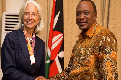 IMF Managing Director Christine Lagarde visits Kenya