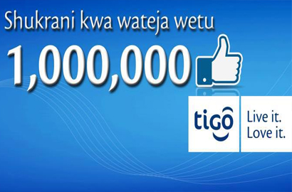 Tigo Tanzania Facebook followers hit 1m mark