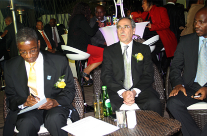 Minister Nonofo Molefhi  and Mascom CEO Jose Couceiro